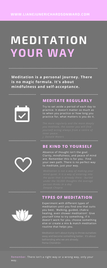 Infographic on the benefits of meditation
